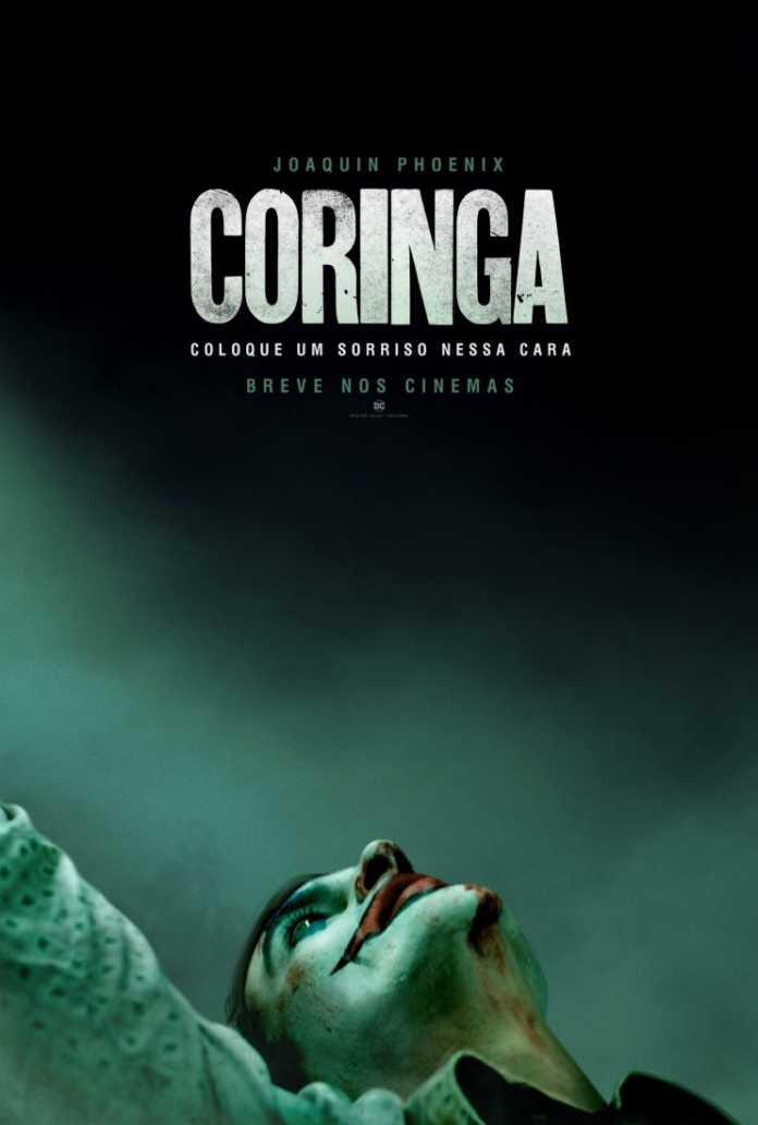 Coringa poster em cartaz