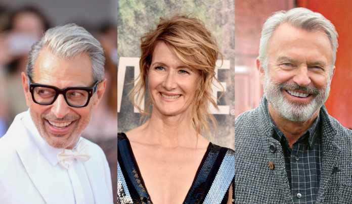 Jeff Goldblum , Laura Dern e Sam Neill.