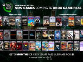 Todos os títulos do Xbox Game Pass chegando e saindo