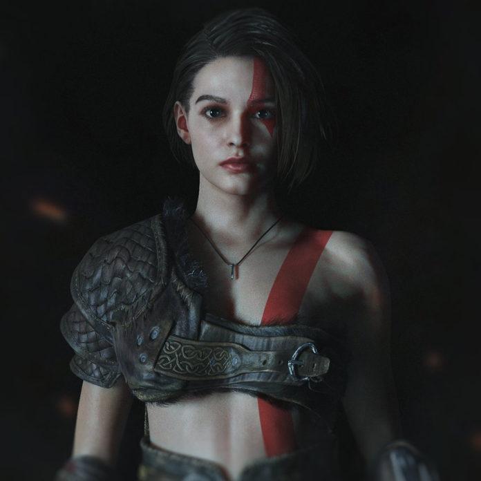 Jill Valentine de Resident Evil encontra Kratos de God of War e resolve fazer um cosplay