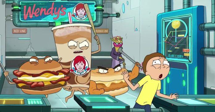 Rick e Morty se unem com Wendy's para vender sanduíches