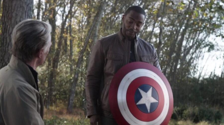 Falcon gets Captain America's shield
