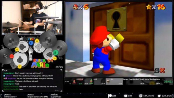 Streamer usa bateria elétrica para zerar Mario 64 em menos de 30 minutos