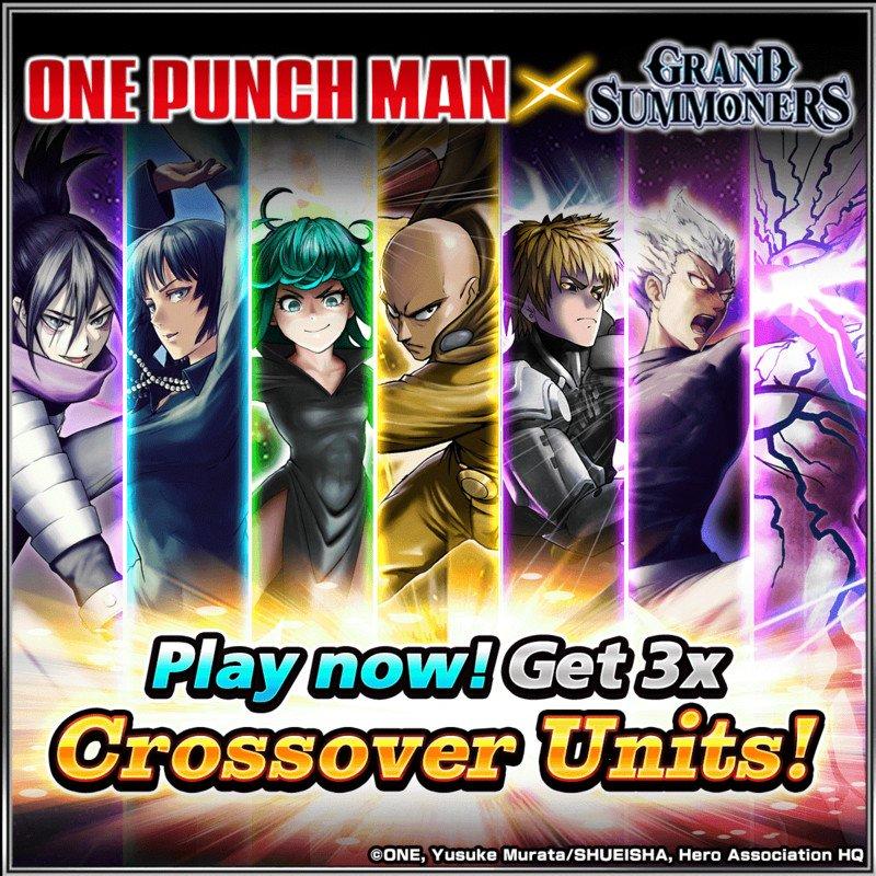 One-Punch Man retorna para GRAND SUMMONERS em uma colaboração avançada 2