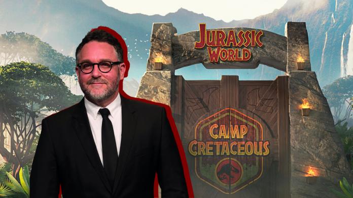 Colin Trevorrow no Jurassic World Camp Cretaceous and Dominion