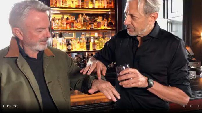 Jeff Goldblum e Sam Neill Recriaram cena de Jurassic Park