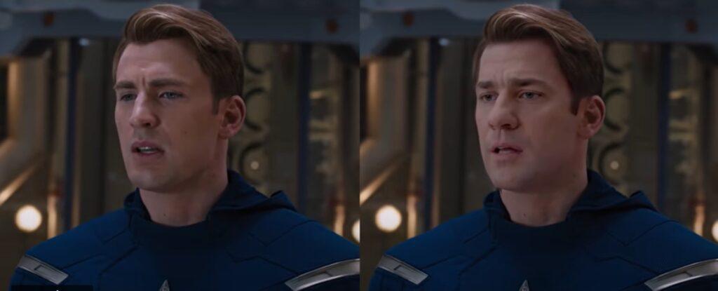 Vídeo impressionante mostra John Krasinski como Capitão América 1