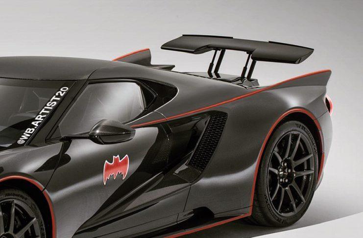 Ford GT Batmobile imaginado como homenagem a Lincoln Futura com pára-brisa dividido