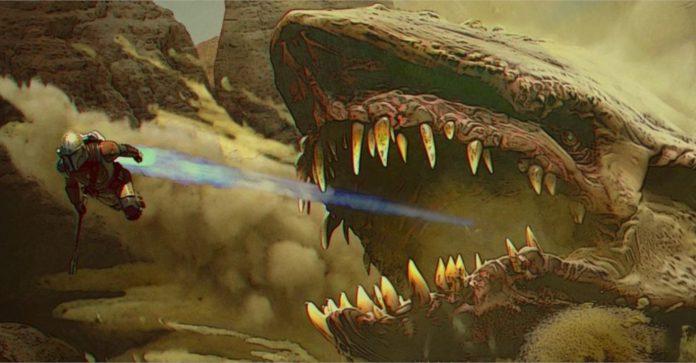 Por que o ácido do dragão Krayt não derreteu o Mandaloriano
