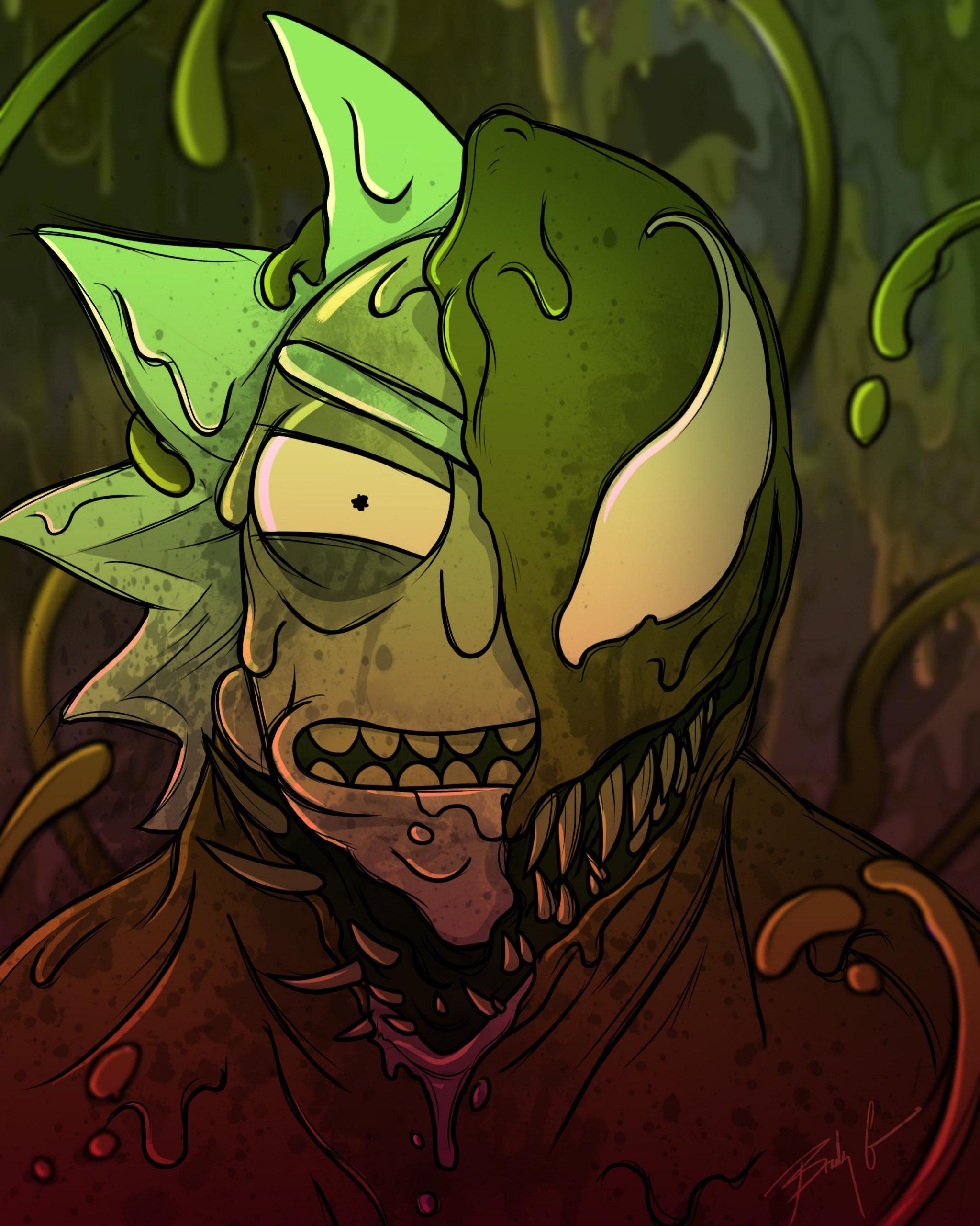 Rick e Morty são possuídos pelo simbionte de Venom