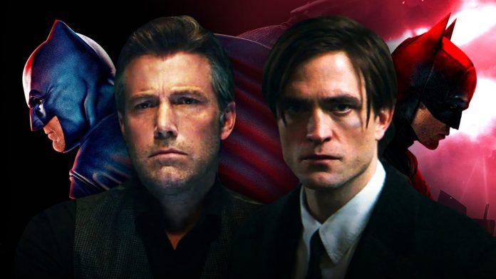 Os Batmen de Ben Affleck e Robert Pattinson estão juntos no pôster oficial da DC