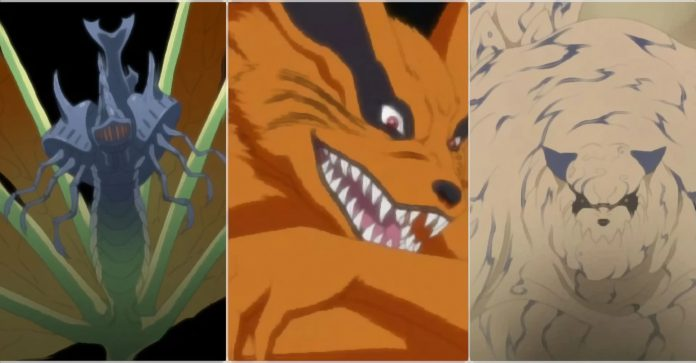 Naruto: As 9 Bestas com Caudas: Classificado do mais fraco ao mais forte