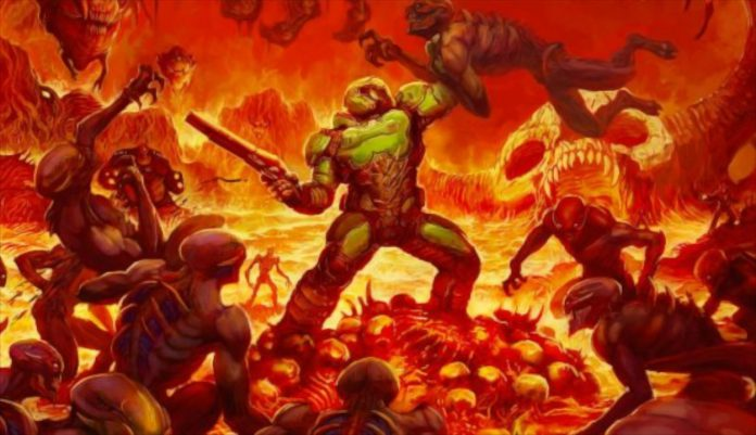 Aqui está Doom em um SEGA Genesis regular