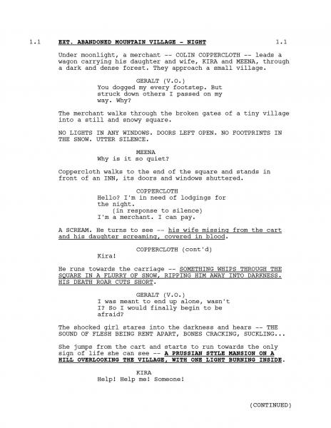 Revelada a página do roteiro da segunda temporada de The Witcher da Netflix 1