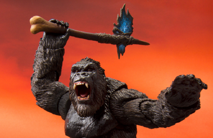 Godzilla vs. Kong : Primeiro trailer nos faz pensar que King Kong empunhará um machado pré-histórico no filme.