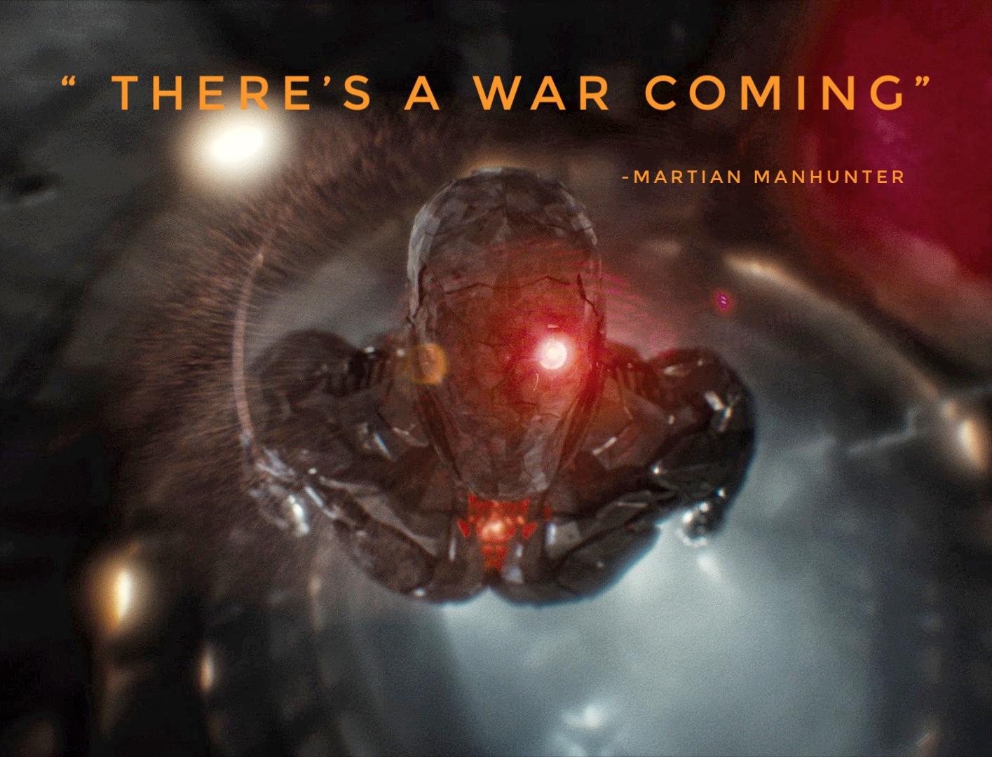 Martian Manhunter 'Caçador de Marte' tem um aviso em uma nova foto da Liga da Justiça de Zack Snyder 1