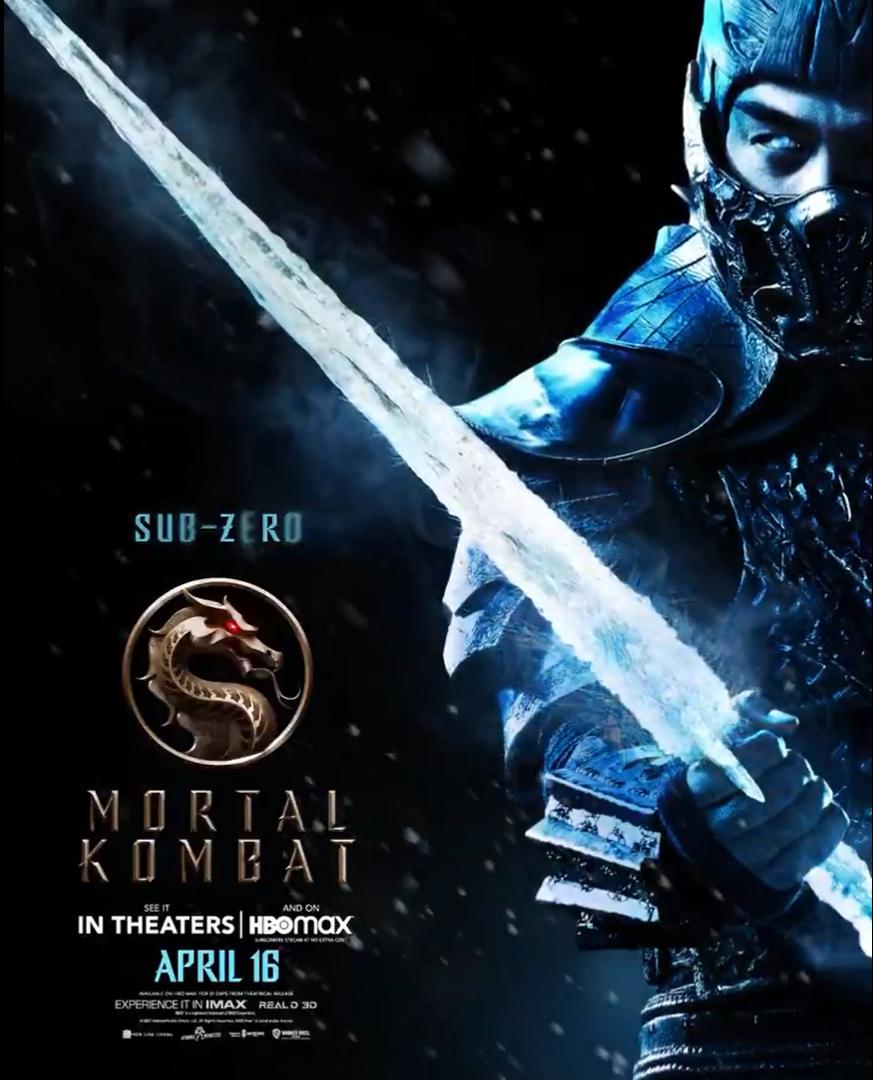 Sub Zero revelado em pôster do filme Mortal Kombat