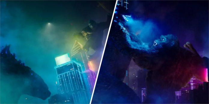 Imagens de Godzilla vs. Kong revelam novos olhares em néon na grande luta do filme