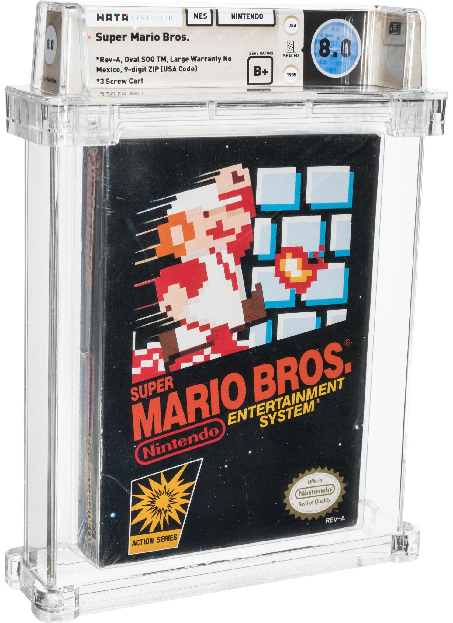 Cópia esquecida de Super Mario Bros. bate recorde em leilão