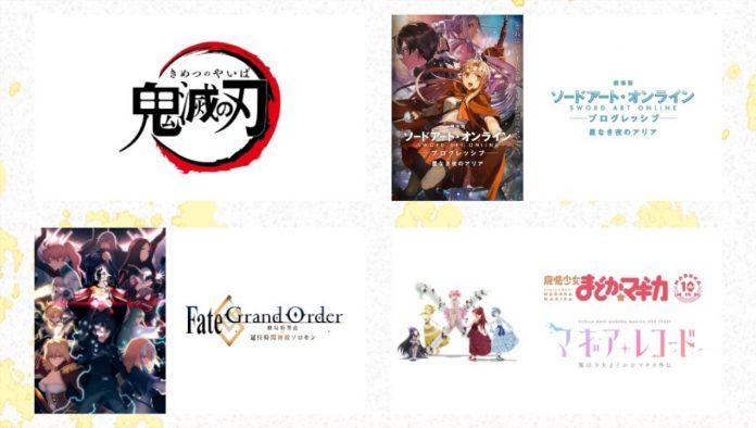 Sword Art Online Demon Slayer e outros programas Aniplex estão se preparando para grandes atualizações