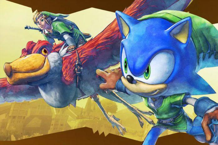 Não nos esqueçamos do estranho crossover de Zelda: Skyward Sword de Sonic the Hedgehog