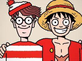 One Piece junta forças com Onde está Wally? Para Crossover de Aniversário