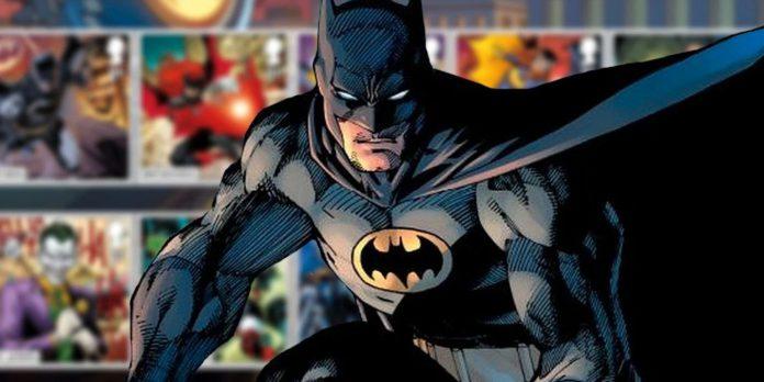 Batman e estrela da Liga da Justiça em arte única para selos colecionáveis do Reino Unido
