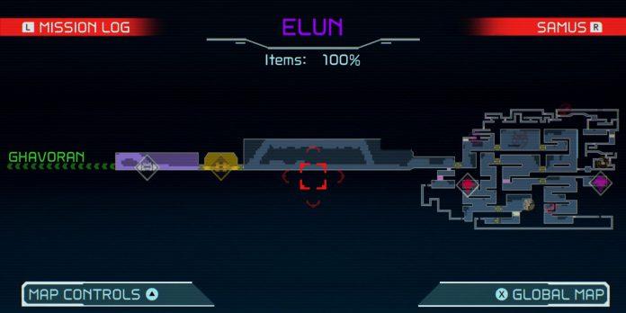 Metroid Dread: Cada Energia; Míssil & Power Bomb Tank em Elun